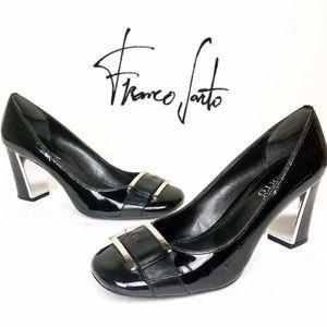 Shoes - Franco Sarto Classic Black Block Heel Pump 9